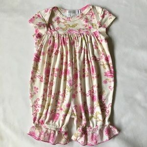 Boutique outfit 12 months baby Nay pink floral EUC